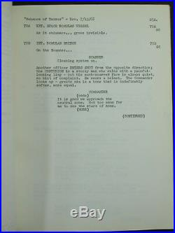 Star Trek Original Script BALANCE OF TERROR REVISED July 1966 Rare Desilu Prod
