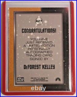 Star Trek Original Series Autograph DeForest Kelley as (DR McCOY) A27 Mint