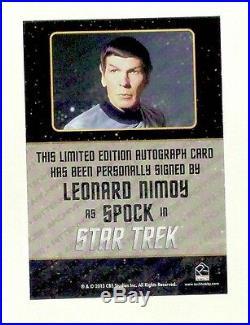 Star Trek Original Series SPOCK Rittenhouse trading card LEONARD NIMOY autograph