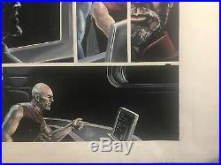 Star Trek TNG Mirror Broken Issue 1 Pg 17 original gouache page by J. K. Woodward