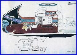 Star Trek TNG Original printed Artwork ENTERPRISE details #19 Probert 1986 COA