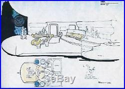 Star Trek TNG Original printed Artwork ENTERPRISE details #22 Probert 1986 COA