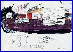 Star Trek TNG Original printed Artwork ENTERPRISE details #23 Probert 1986 COA