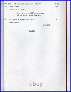 Star Trek TOS Orig Script THE ULTIMATE COMPUTER Final Draft 12/5/67 D. C. FONTANA
