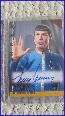 Star Trek TOS Original Series autograph card A59 Leonard Nimoy
