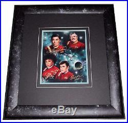 Star Trek The Fab Four Signed & Framed Photo COA George Takei Doohan Autographs