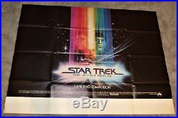 Star Trek The Motion Picture Original 1979 XL Movie Poster 45 x 60 Subway