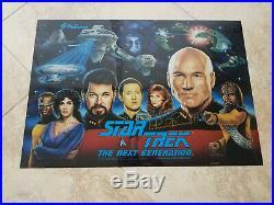 Star Trek The Next Generation Pinball Translite signed by Patrick Stewart