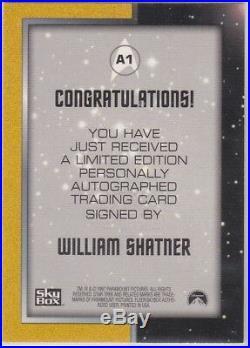 Star Trek The Original Series Season 1 A1 William Shatner Captain Kirk Autograph