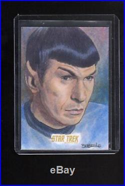 Star Trek The Original Series The Captain, s Collection sketch by Dan Bergren