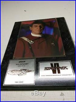 Star Trek Undiscovered Spock Leonard Nimoy Signed Plaque 1861/2500 VI