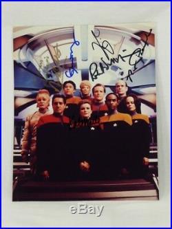 Star Trek Voyager Cast Signed 8x10 Autographed Photo Ethan Phillips x7