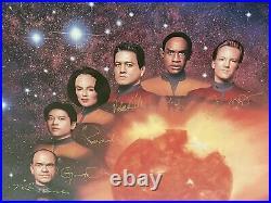 Star Trek Voyager Cast limitierte Lithographie Original Autogramm signiert