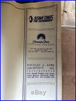 Star Trek the Experience Original Blueprints Landmark Entertainment Group