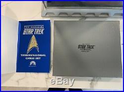 Star Trek tridimensional chess set COMPLETE Vintage MINT un played Original Box