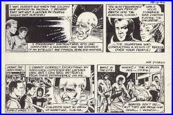 Two consecutive daily original art strip for Star Trek Dailies 1982