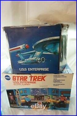 VINTAGE MEGO STAR TREK USS ENTERPRISE ACTION PLAYSET WITH ORIGINAL BOX 1974 d