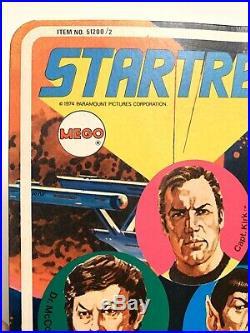 Vintage 1974 Original MEGO STAR TREK MR. SPOCK 8inch Action Figure Unpunched MOC
