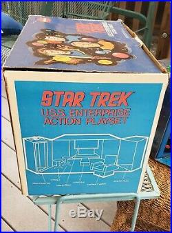 Vintage 1975 Star Trek USS Enterprise Action Playset MEGO 51210 Original Box ++