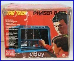 Vintage 1976 Mego Star Trek Phaser Battle Electronic Game Toy In Original Box