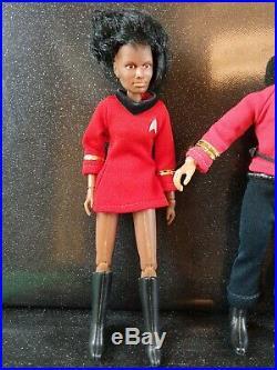 Vintage 70s Star trek Mego 5 original figure bundle lot original clothes