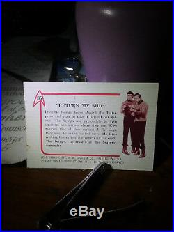 Vintage Original Leaf Brands Star Trek Card #35 Return my Ship