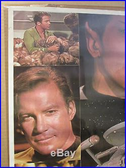 Vintage Star Trek Collage 1976 original Poster 10050