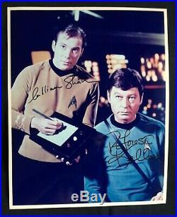 William Shatner DeForest Kelley Autograph Signed Star Trek Hollywood Posters