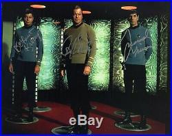 William Shatner Leonard Nimoy Deforest Kelley Star Trek Signed 8x10 Photo Rare