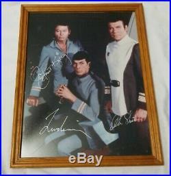 William Shatner Leonard Nimoy Deforest Kelley autographed Photo Star Trek 11x14