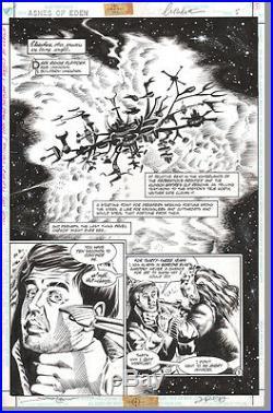 William Shatner SIGNED Star Trek Ashes of Eden Original Art Page Jimmy Palmiotti