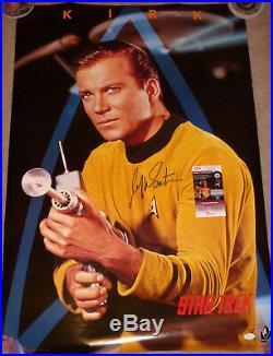 William Shatner Signed Star Trek Poster Autographed, Captain Kirk, JSA COA