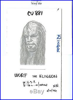 Worf The Klingon Star Trek Wall Street Journal Hedcut Published Original Art